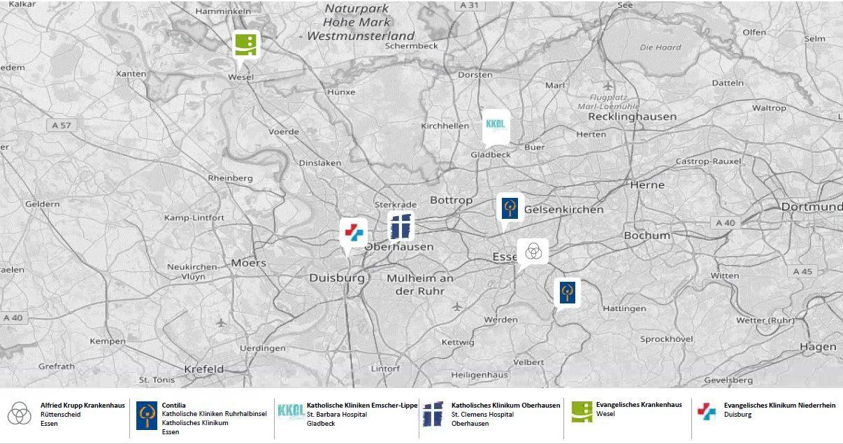 Karte des Netzwerkes