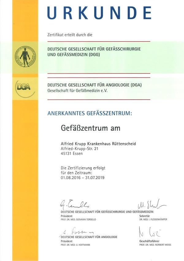 Alfried Krupp Krankenhaus | Zertifikate Alfried Krupp Krankenhaus